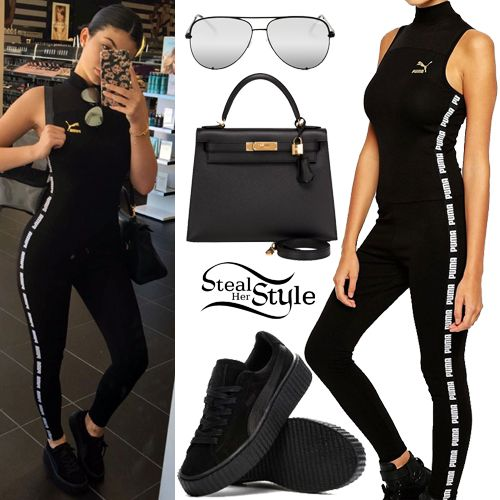 kylie jenner puma black and gold
