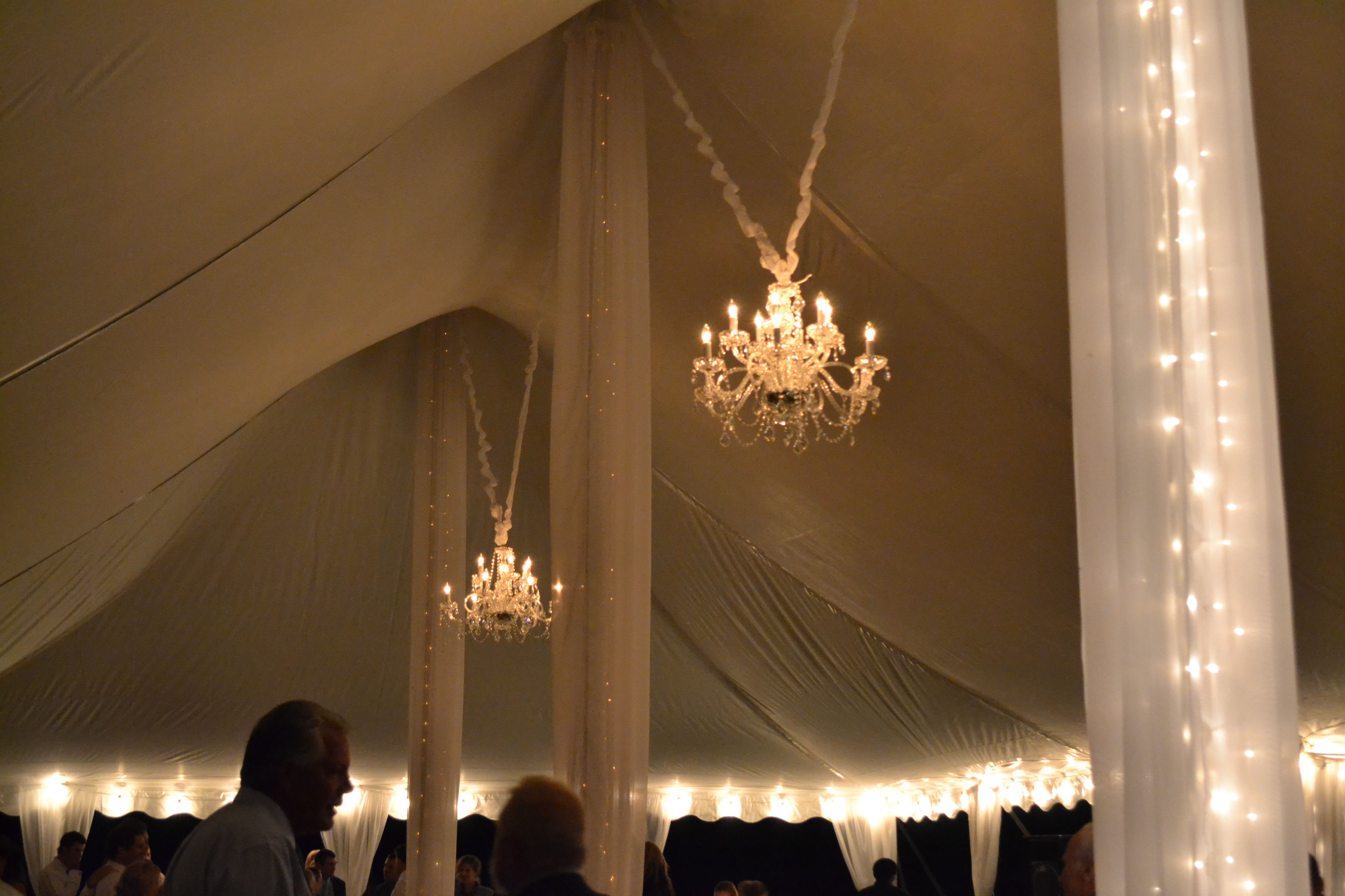 Here is a fun way to add lighting underneath your tent String