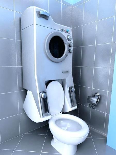Shower Toilet Combo Washing Machine Toilet Combo Saves Water Rv