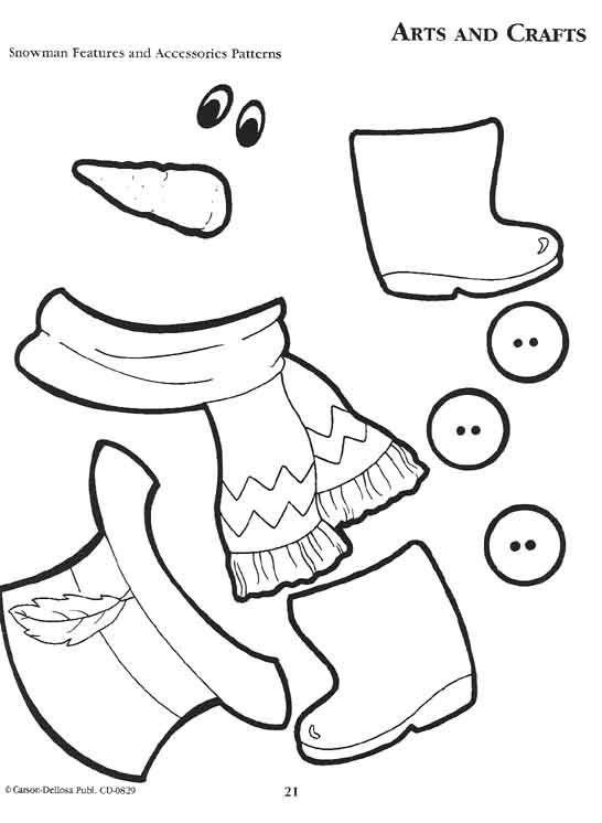 Sneeuwpop Accessoires Kostenlose Druckbare 8341 Snowman Crafts