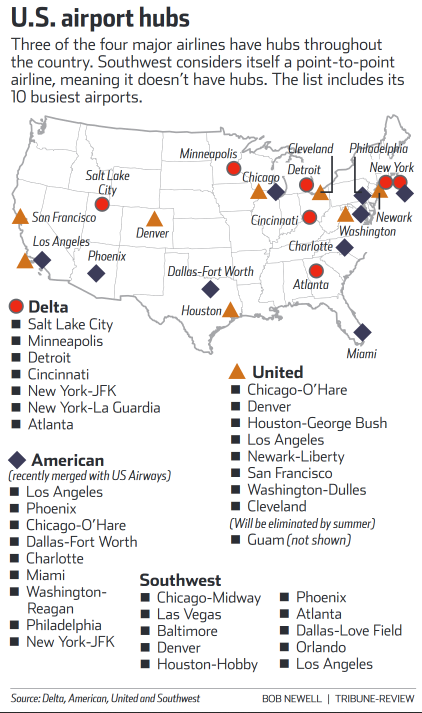 Map Of Us Airport Hubs Pin on Wonderful Maps