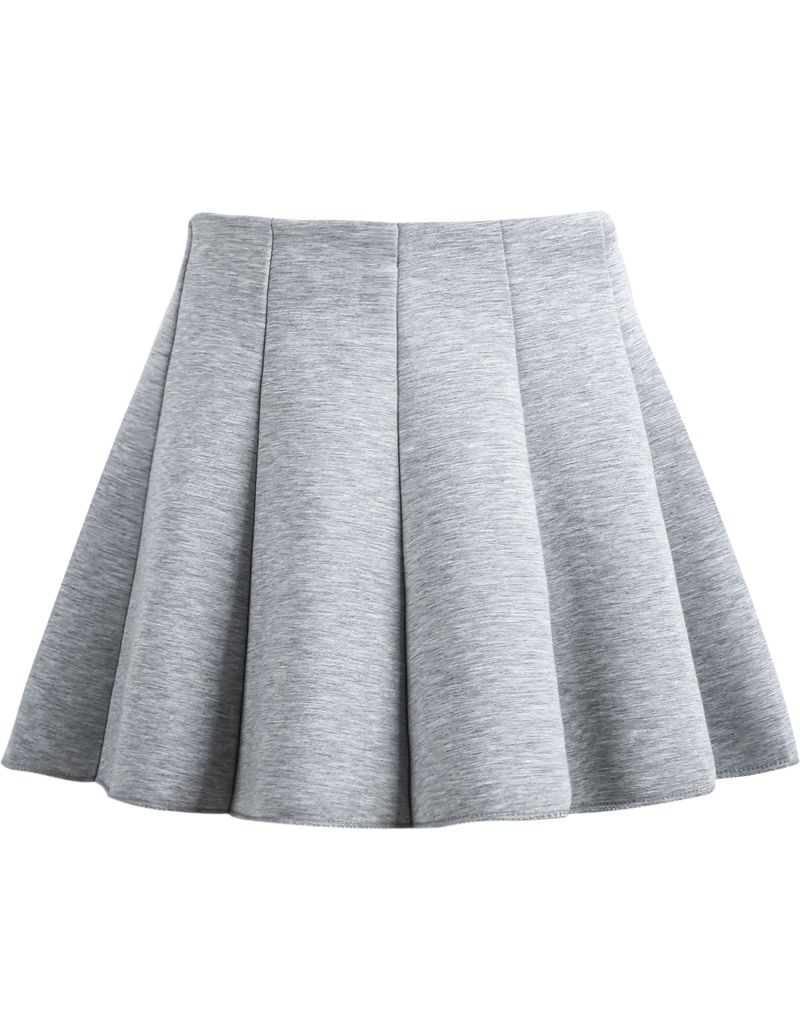 Grey High Waist Pleated Skirt - Sheinside.com | Summer | Pinterest ...