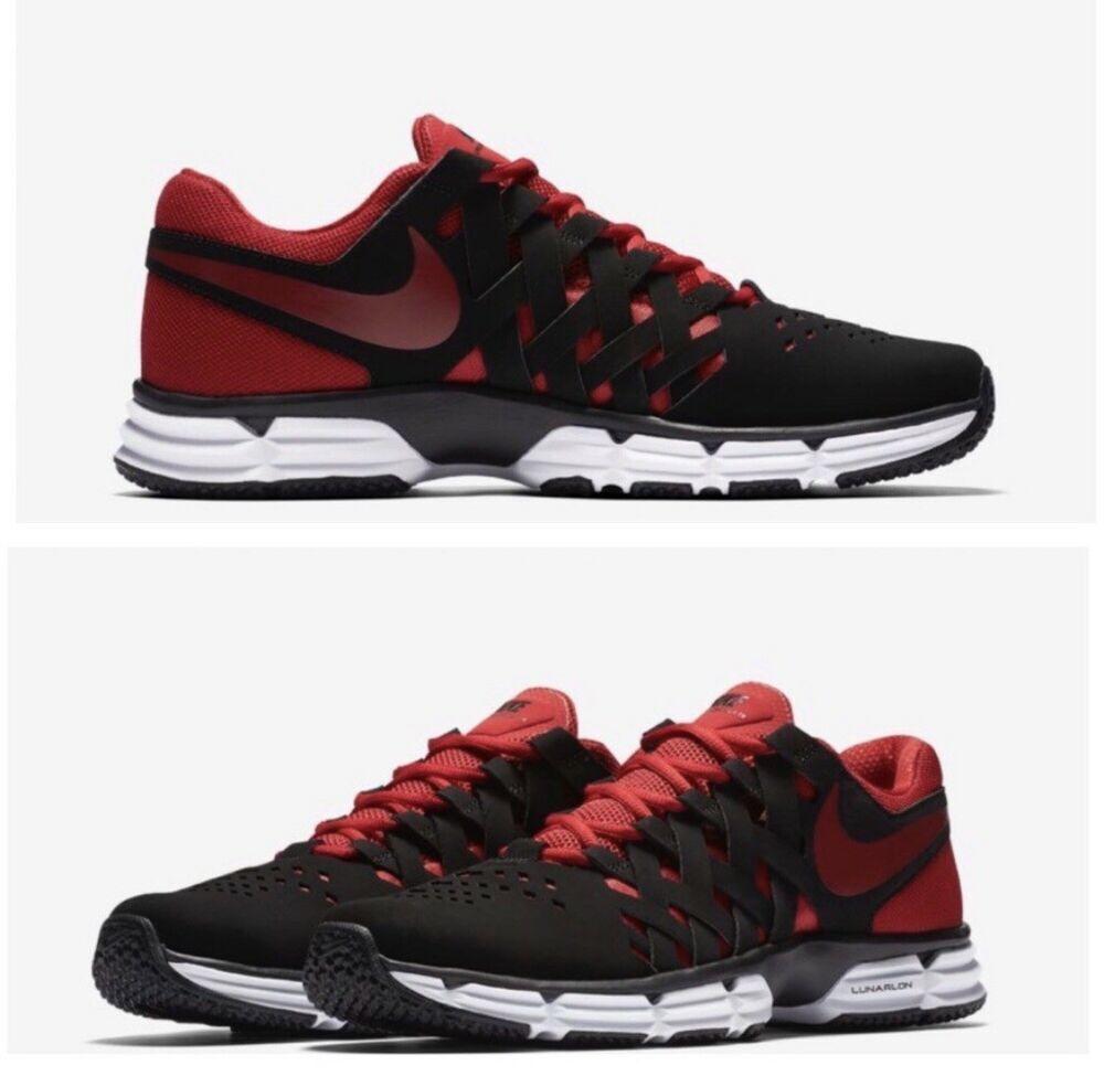 7ebfc7688fb2 Nike Lunar Fingertrap TR Crosstraining Shoes Size 12 Men s 898066 006 Black  Red