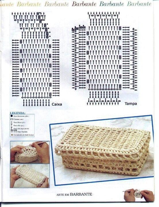 Crochet Box - Chart ❥ 4U // hf | cajas de crochet | Pinterest ...