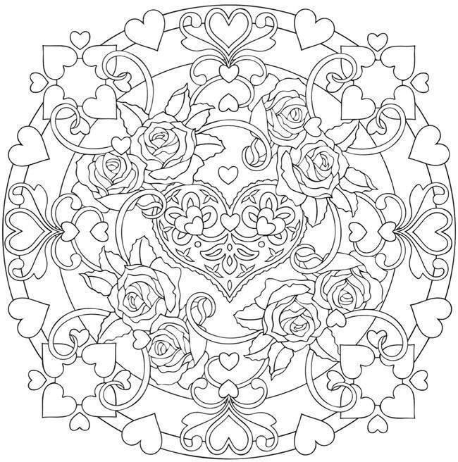 Welcome To Dover Publications Heart Coloring Pages Mandala Coloring Pages Coloring Books