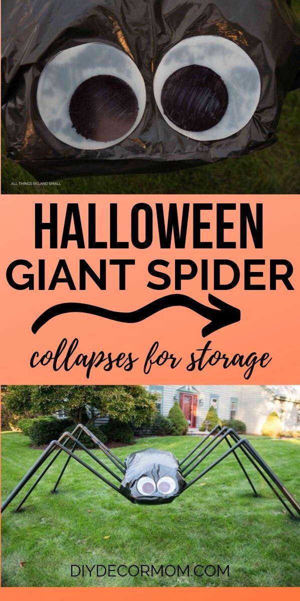 GIANT SPIDER Halloween Decoration Outside #cheapdiyhalloweendecorations