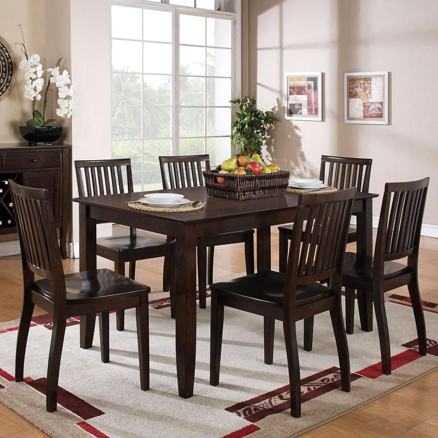 Candice 7 Pcrectangular Table And Chair Dining Setsteve Adorable Steve Silver Dining Room Set Inspiration Design