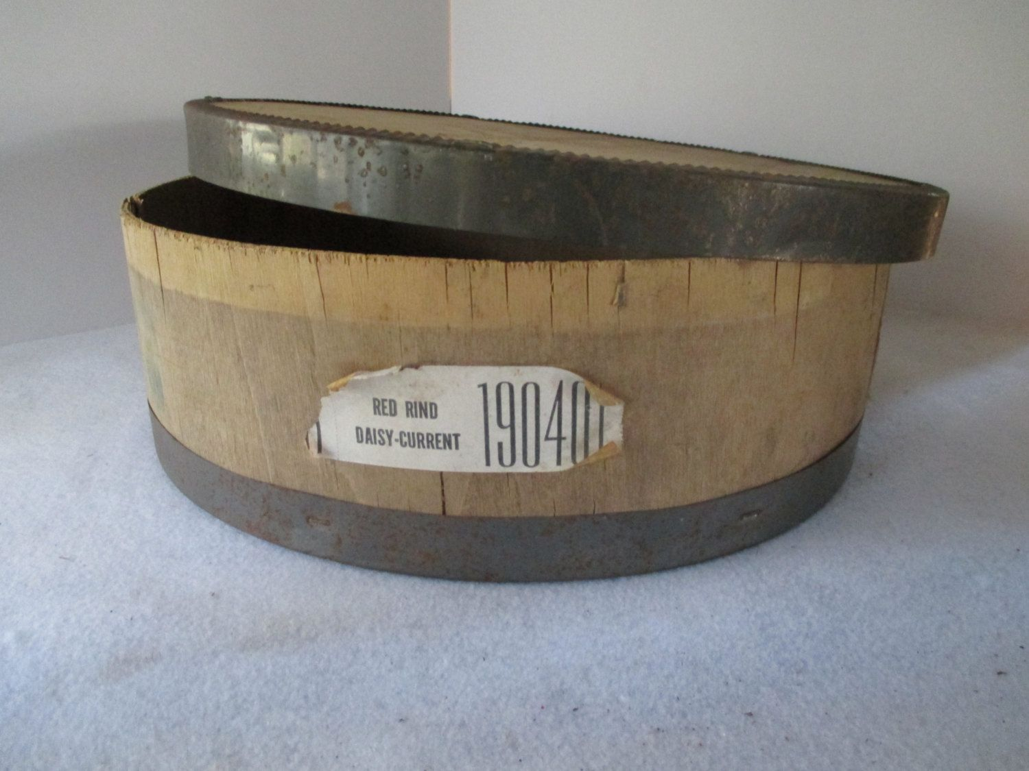 Round Cheese Box Vintage Cheese Wheel Wood And Metal With Lid Cheese