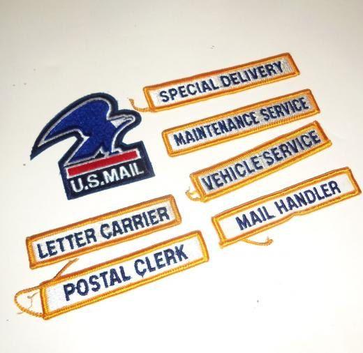 7 Vintage US Mail Postal Service Post Office Patch LOT by