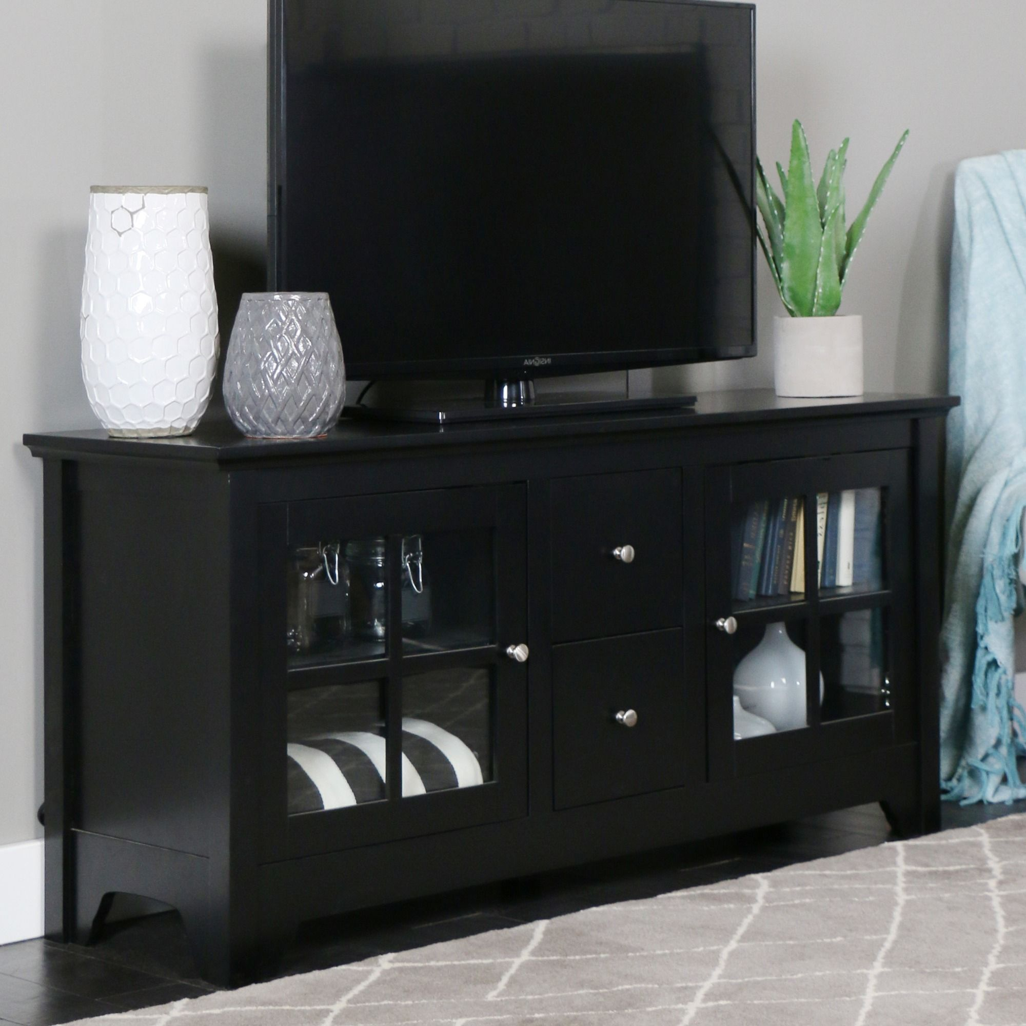 Update Your Living Room Decor With This Modern Solid Wood Tv Stand