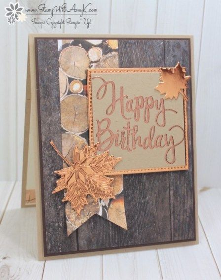 Stampin Up Stylized Birthday Masculine Card Stamp With Amy K