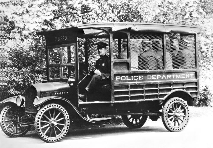 1919, Ford produced a Model T police truck (known by its slang term 'Paddy' wagon)