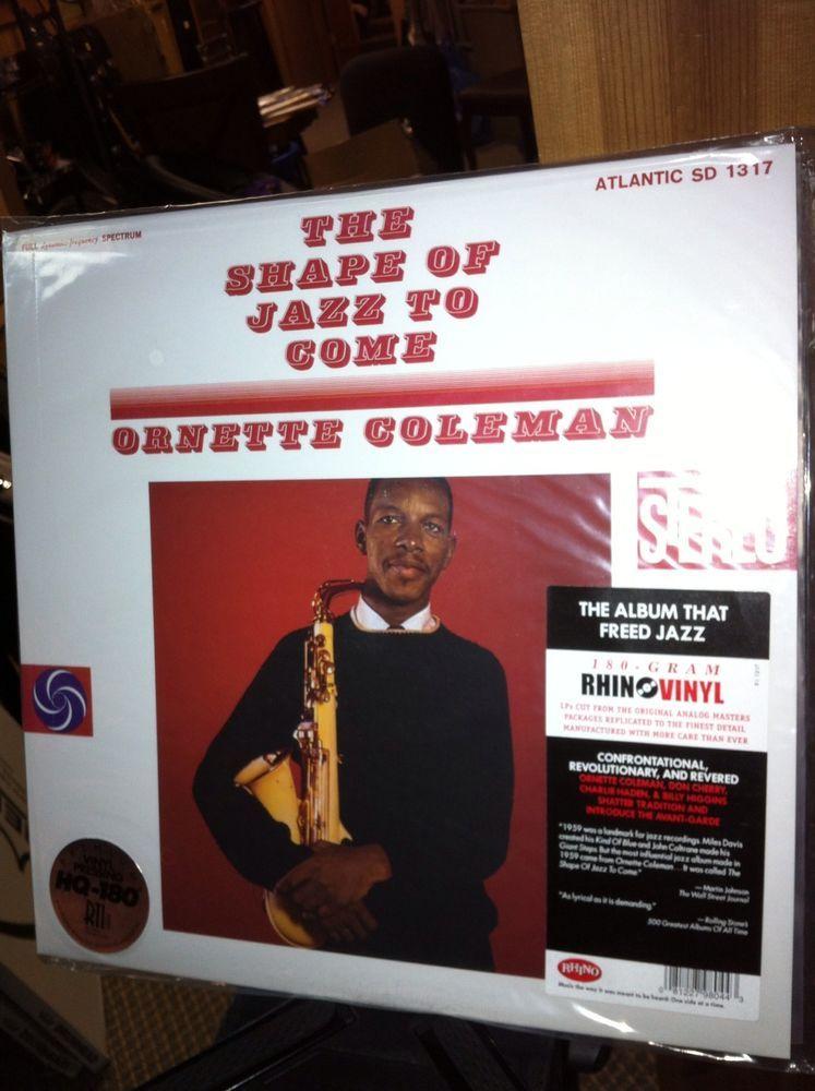 Ornette Coleman The Shape Of Jazz To Come Vinyl Lp 180 Gram Record New Sealed Ornette Coleman Jazz Vinyl Records