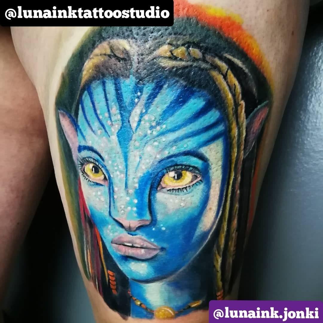 Amazing Avatar leg tattoo #fullcolour #tattoos #tattooartist