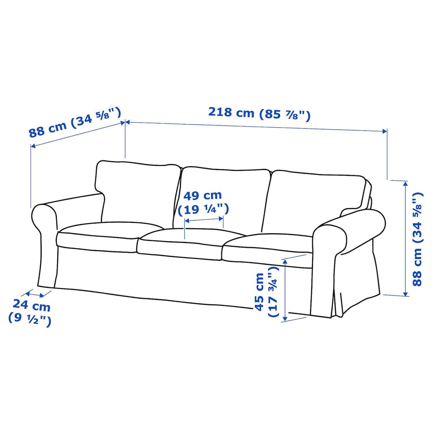 Ikea Ektorp Divano Letto A 3 Posti.Ektorp Divano A 3 Posti Lofallet Beige Nel 2020 Divano Ektorp