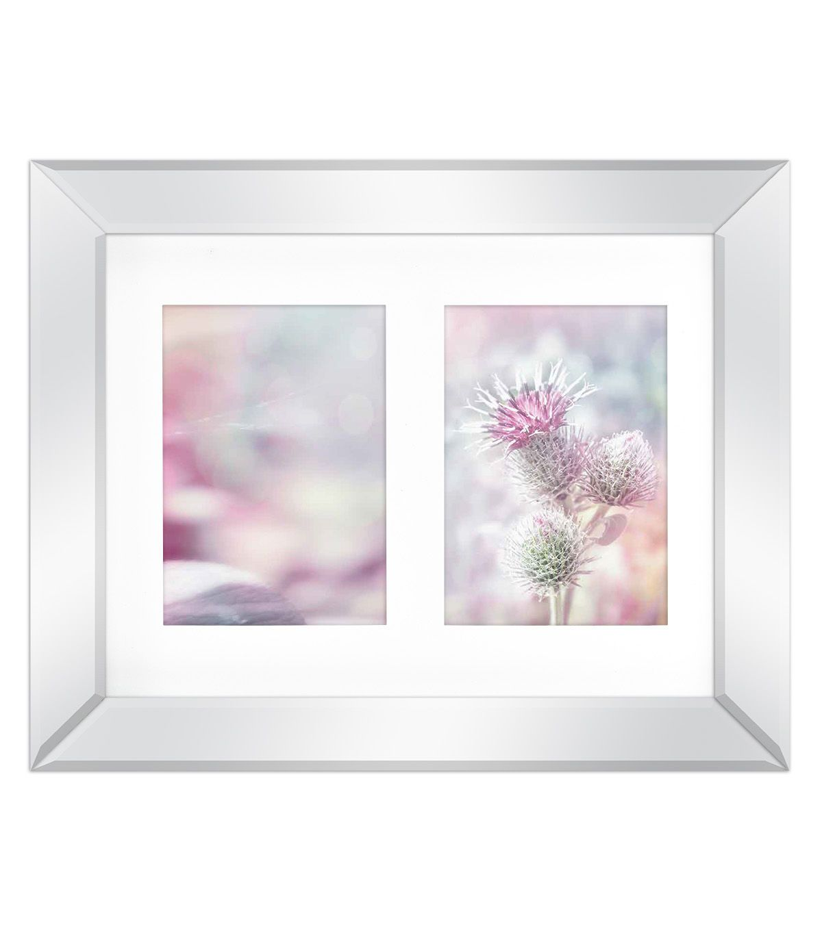 Mirror Border Wall Collage Frame with 2 Openings 5\