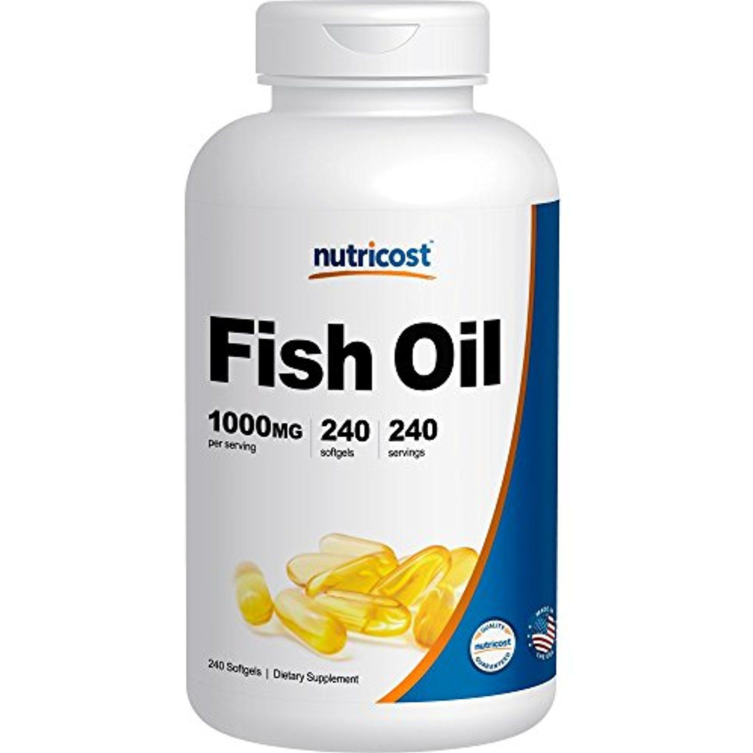 Nutricost High Quality Fish Oil 1000mg (600mg of Omega-3 ...