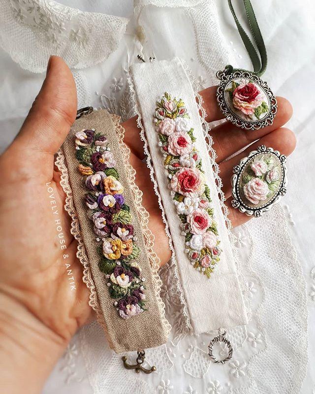 "Article Instagram de Lovely House & Antik / Natalia: ""Bonjour! 😍🌹 Mon petit parterre fleurit."" #Lovelyhouse_antik #embroideryartist # вышивка #bordado #handmade #broderie # needlepoint… ""   – takılar"