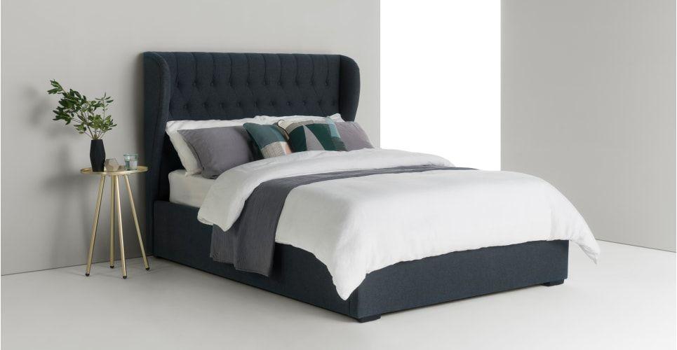 b5189520b7e5 Bergerac super king size bed, aegean blue | made.com | bedroom ...