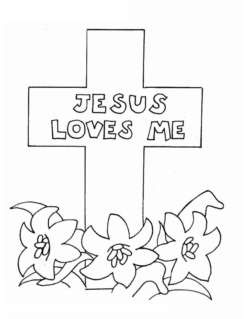 jesus color pages | Jesus Loves Me Coloring Pictures ...