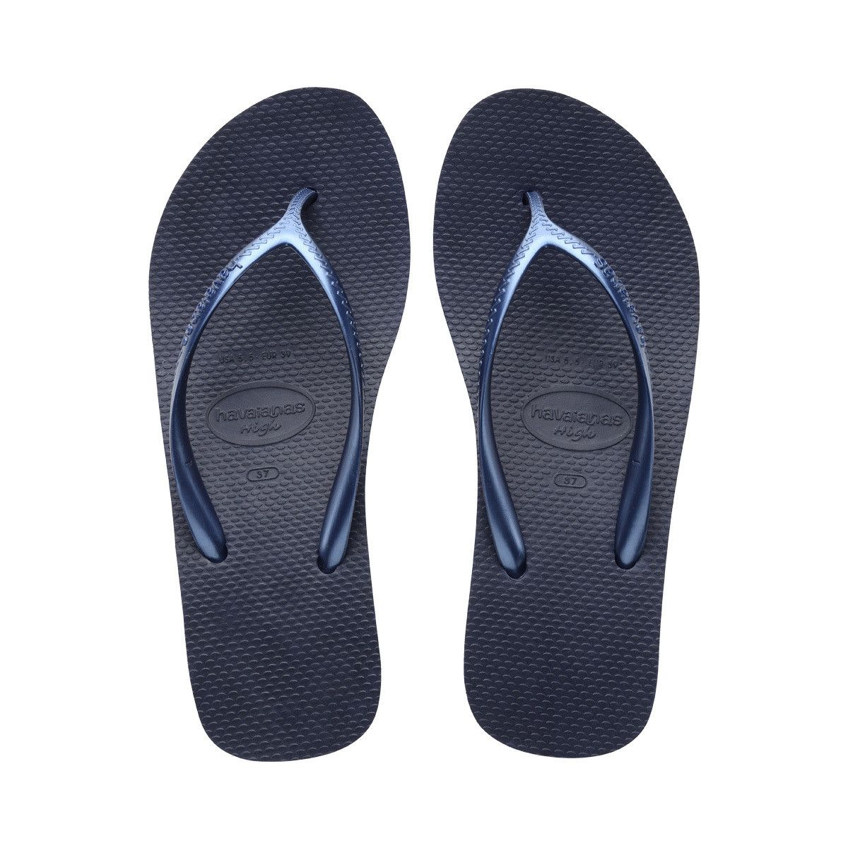 47b4b4bcc6dad Havaianas High Fashion Navy Blue Flip Flops Price From  37