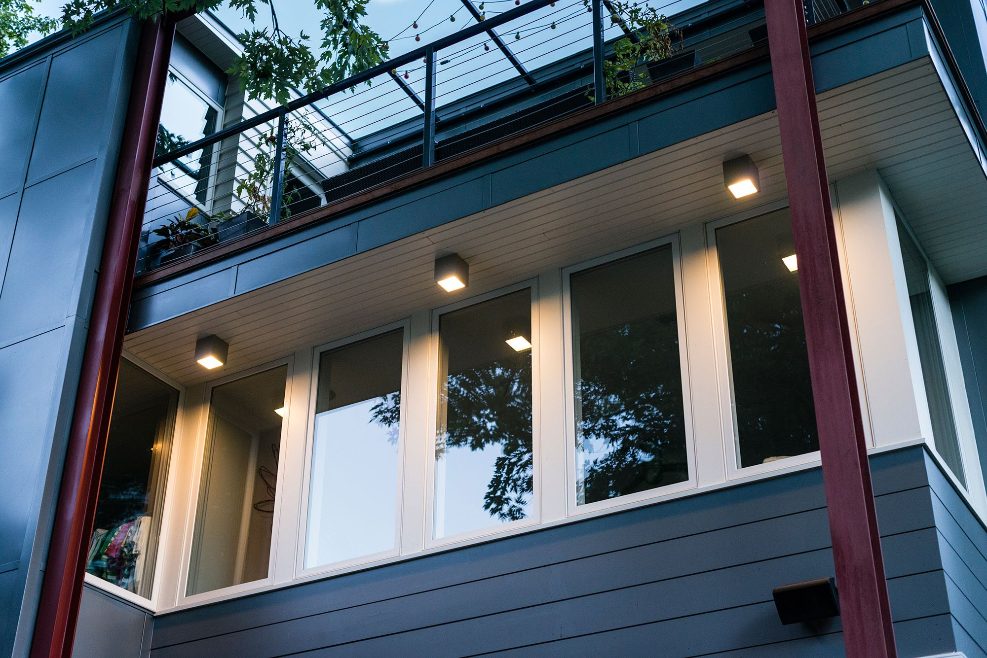Kube Outdoor Ceiling Flush Mount By Hinkley Lighting 1763tt Outdoor Ceiling Lights Modern Front Porches Front Porch Lighting