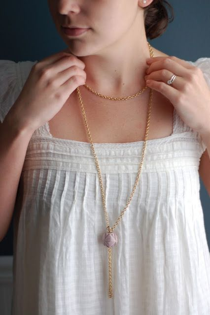 necklace made using vintage materials