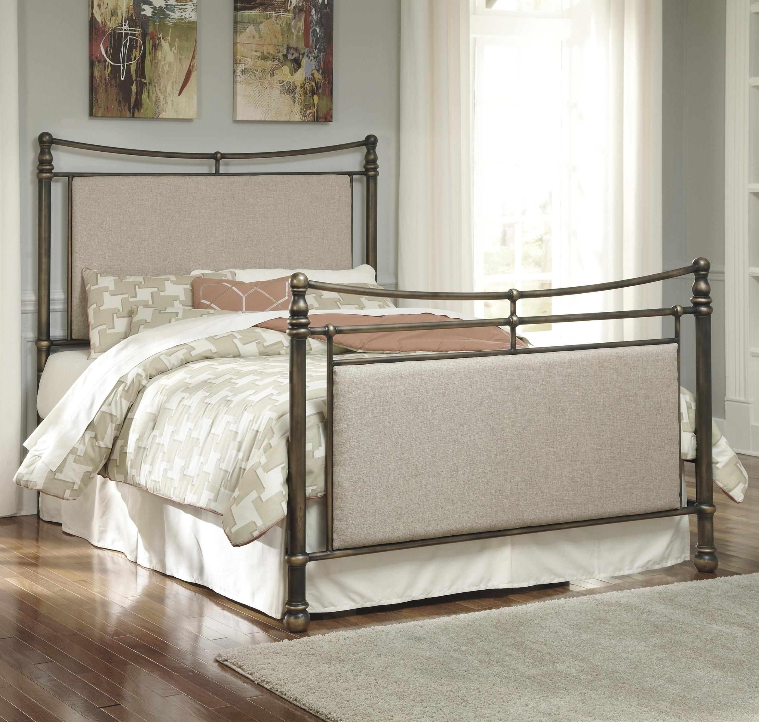 The Upholstered Panels On Headboard And Footboard Of This Metal Bed Add Luxurious Comfort As They Update Its Style Look Will Contrast Nicely With