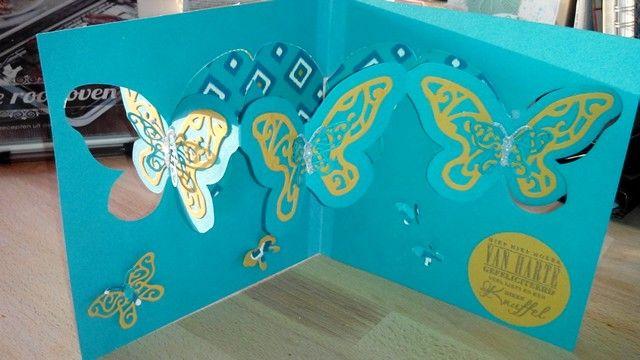 Vlinderkaart met bohemium van SU