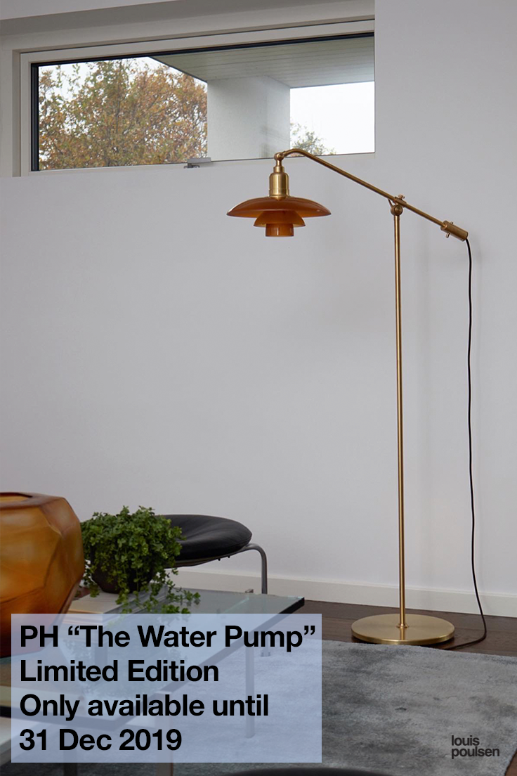 """PH """"The Water Pump"""" Amber Glass Lamp Limited Edition 2019"""