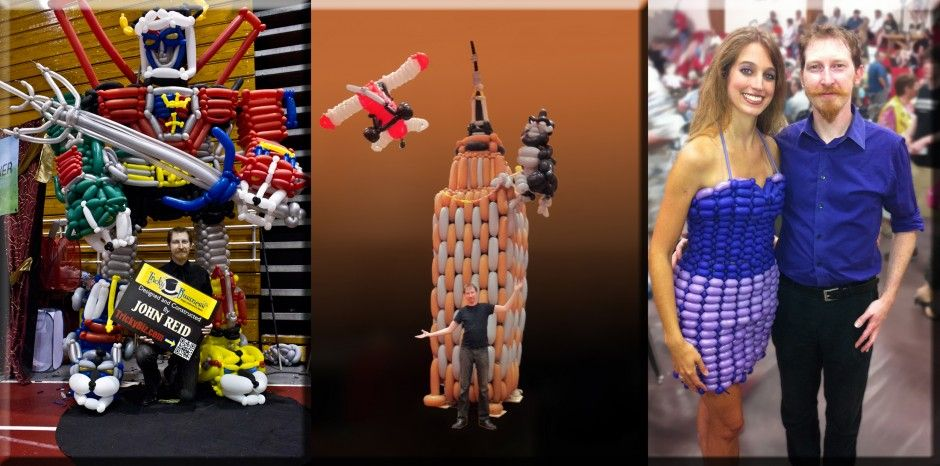 Me with some of my greatest creations... (left to right) Voltron, Empire State Building, Trade show Dress