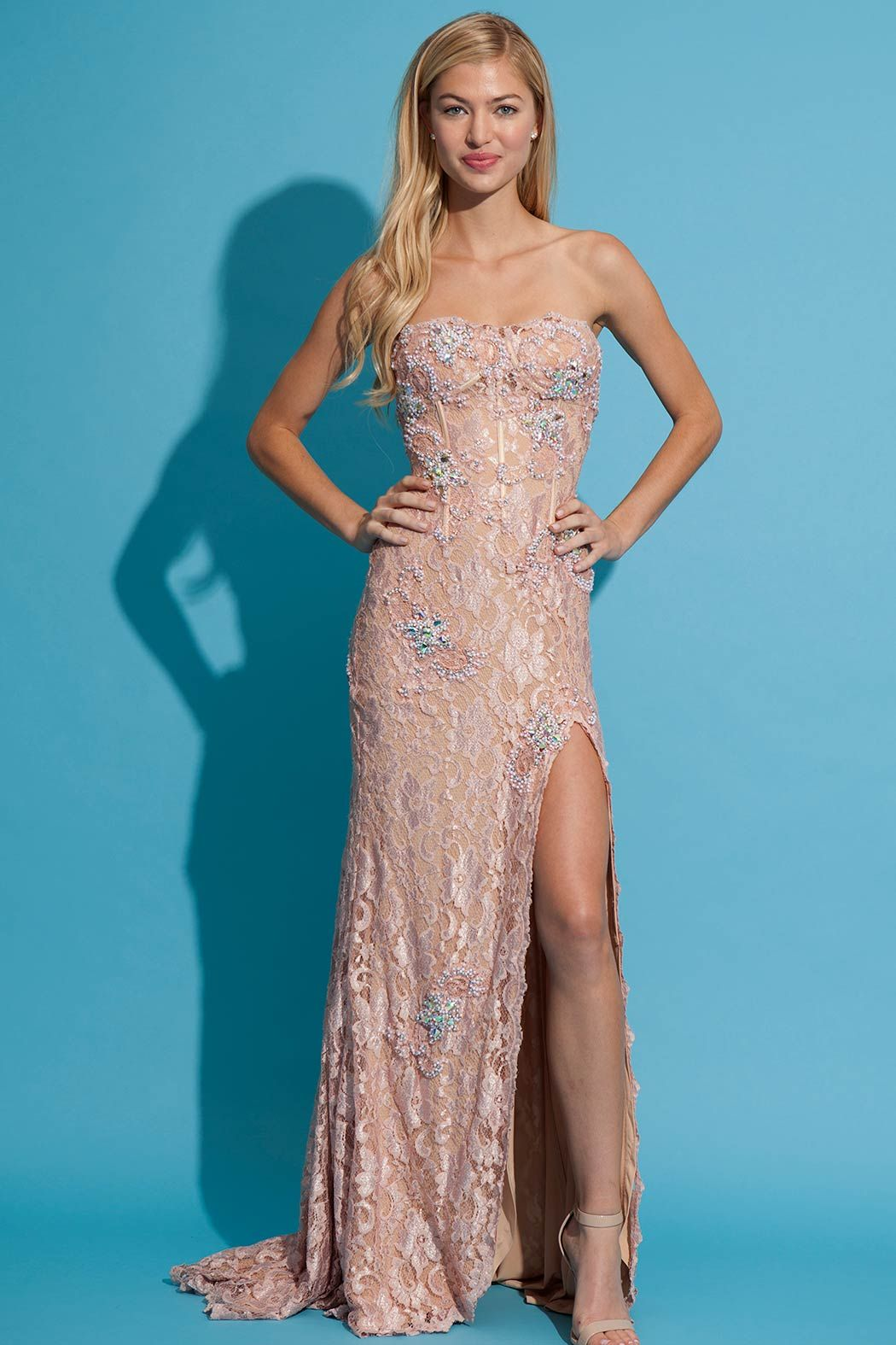 Floor length Jovani lace gown | Fashion | Pinterest | Jovani ...