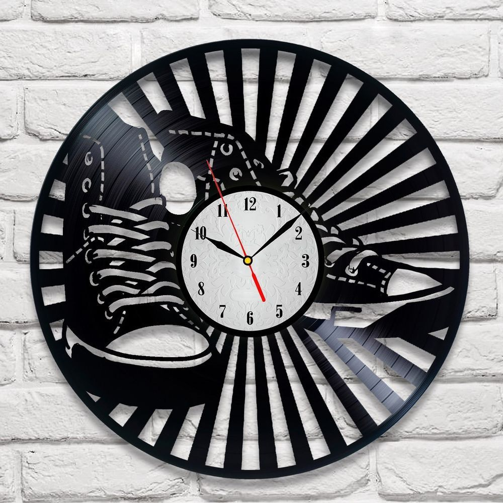 office wall clocks large. Converse Design Vinyl Record Wall Clock Home Art Playroom Bedroom Shop Office Clocks Large
