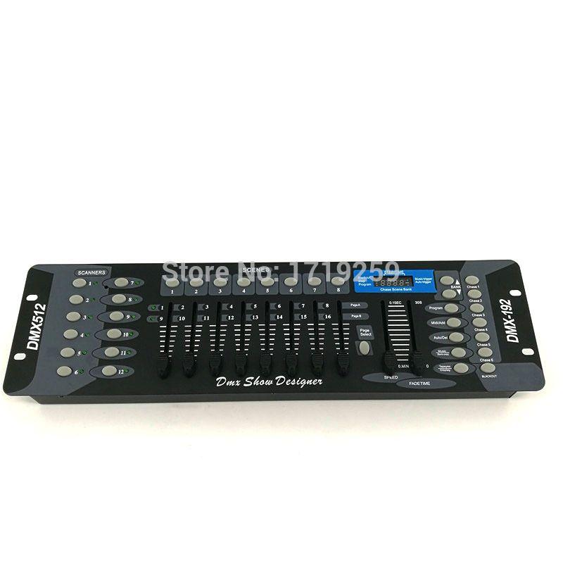 Envío gratis NUEVO 192 equipo de DJ DMX de La Consola de Iluminación Escénica Controlador DMX LED Par Focos Cabeza Móvil DJ Controlador