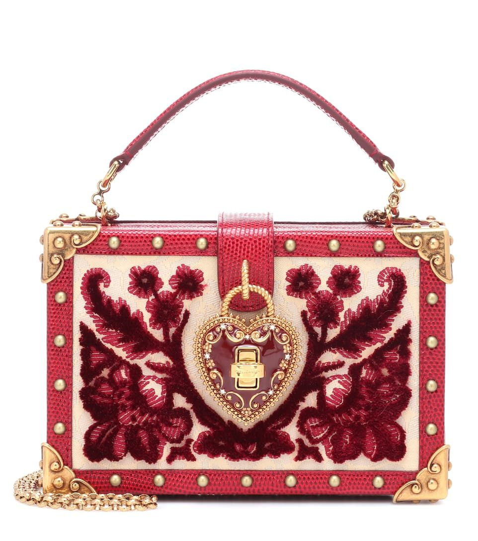 93a9812df277 My Heart Velvet And Leather Clutch