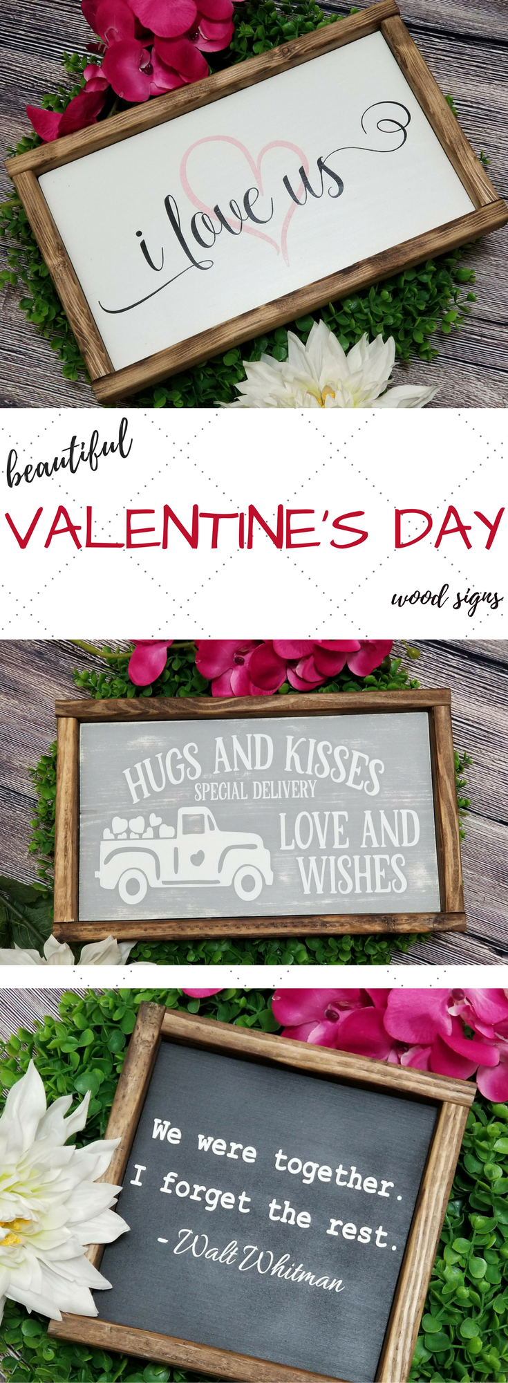 Valentines Day Signs from Etsy!!! I love these little cuties. #farmhousedecor #valentinesideas #valentinesday