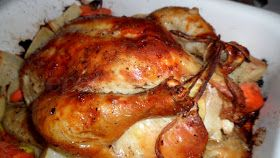 Deep South Dish: Garlic Roasted Chicken with Vegetables
