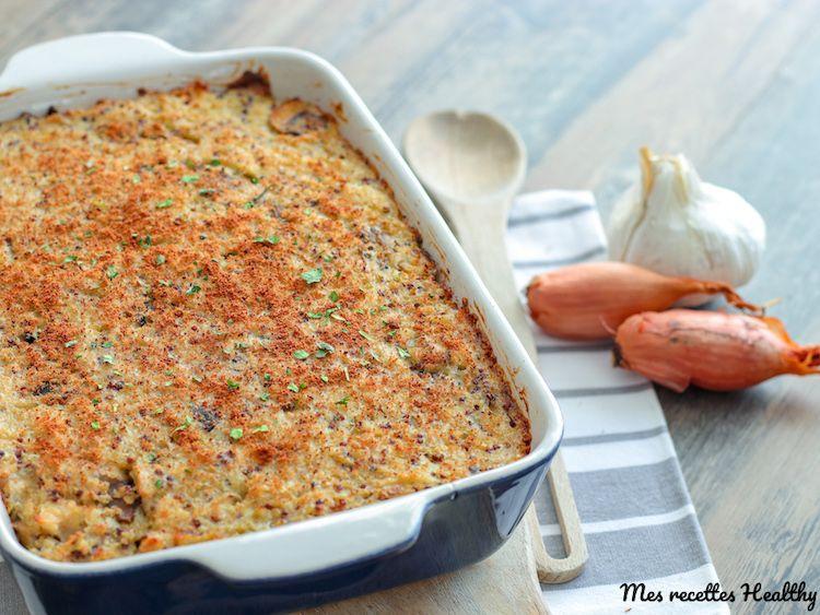 Gratin au poulet et quinoa au champignon | Mes recettes Healthy