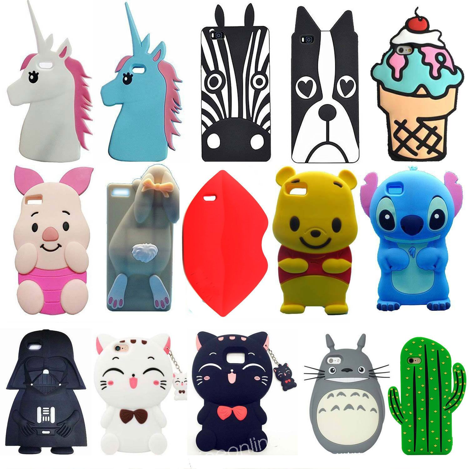 3D Newest Cartoon Disney Soft Silicone Cover Case Skin For Huawei ...