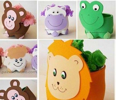 Animales con botellas descartables ideas recicladas - Manualidades infantiles recicladas ...