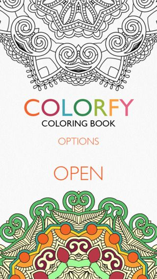 ADULT COLORING Book Trend!•• app Colorfy • for iOS/Android/Kindle ...