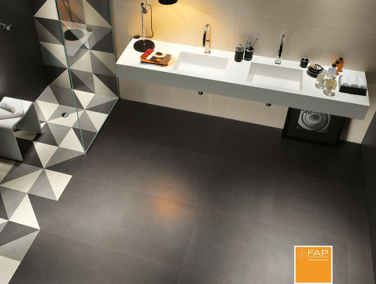 Design bathroom base lava quarzo concrete inspirations by fap