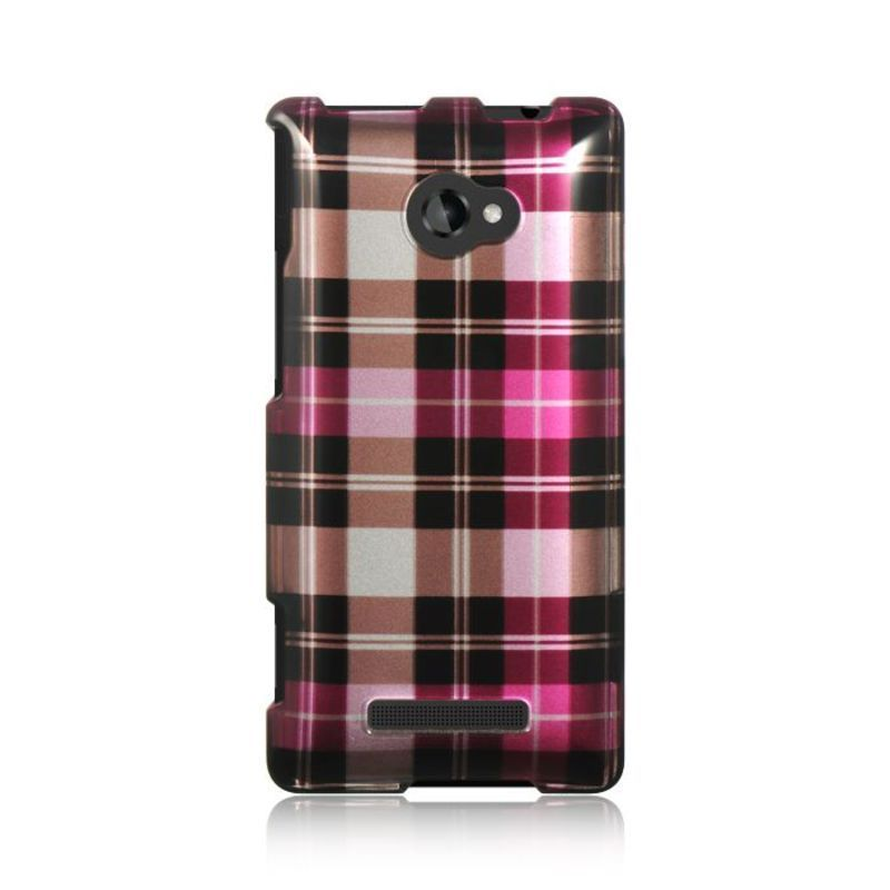 Insten Hot Pink/ Hard Snap-on Rubberized Matte Case Cover For HTC Windows Phone 8X #2292077