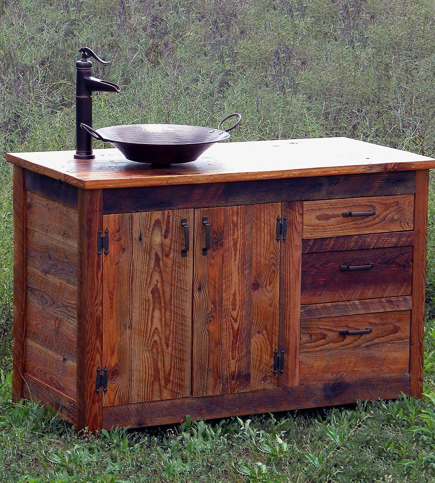 Reclaimed Wood Bathroom Vanity Home Furniture The Rusted Nail