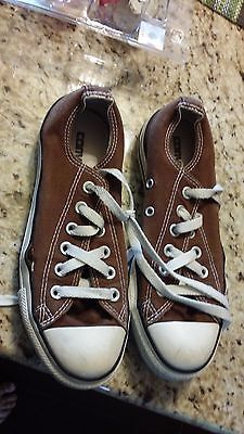 CONVERSE CHUCK TAYLOR ALL STAR LOW SNEAKER ADULT SIZE WMS 7 MENS 5 BROWN be56fc9c4