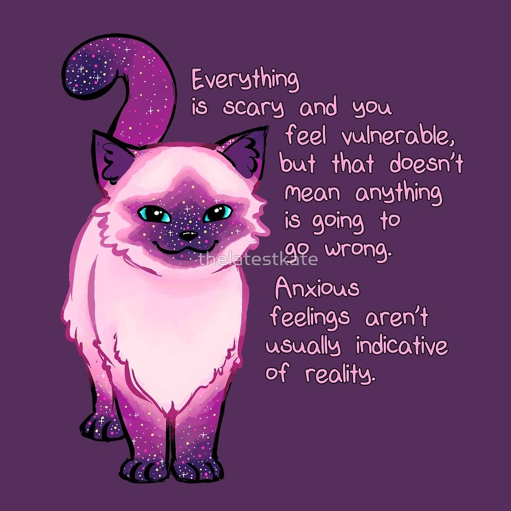 Anxiety Encouragement Galaxy Cat by thelatestkate