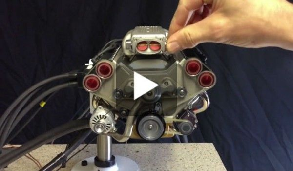 The Smallest V8 Engine With Electronic Fuel Injection Only 45cc