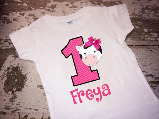 97b9e933 Personalized Cowhead Shirt with Name and Age Shopkins Shirt, Cute Fashion,  Bubble Guppies,