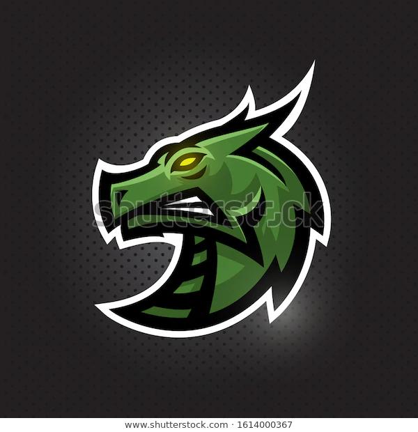 Dragon Head Vector Logoicon Illustration Mascot Stock Vector Royalty Free 1614000367 Dragon Head Illustration Stock Vector