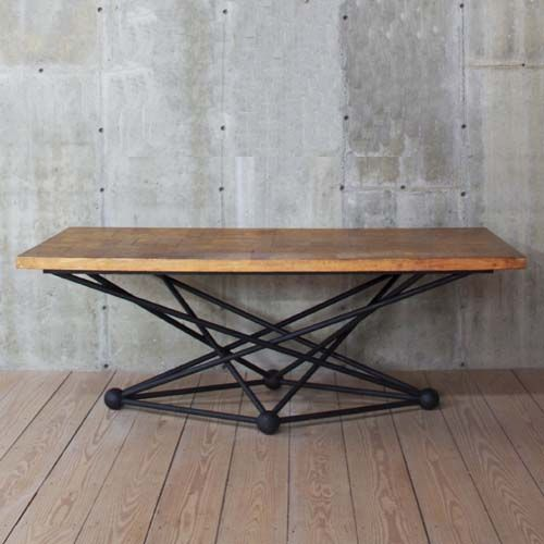 This Atom Table Is Designed And Built By R T Facts Also Available With 4 Diffe Top Options All Ranging In Price Material Parquet